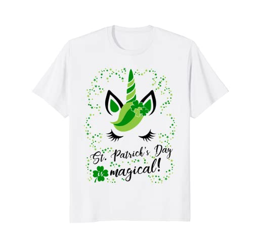 875cee3d Image Unavailable. Image not available for. Color: St Patricks day is  magical! Cute & Funny Unicorn T Shirt