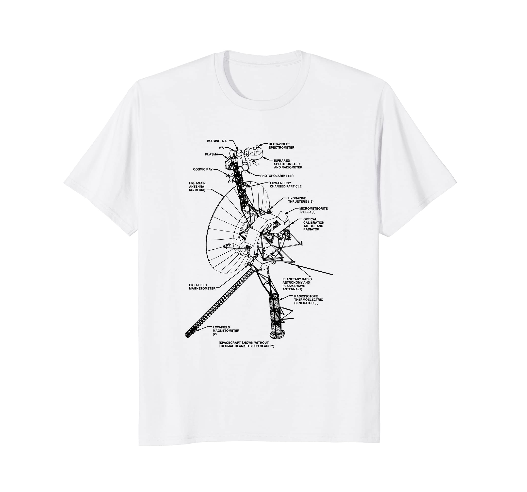1ac8b13a21e960 Amazon.com: Voyager 1 T Shirt - Message T-Shirt Science Gift: Clothing