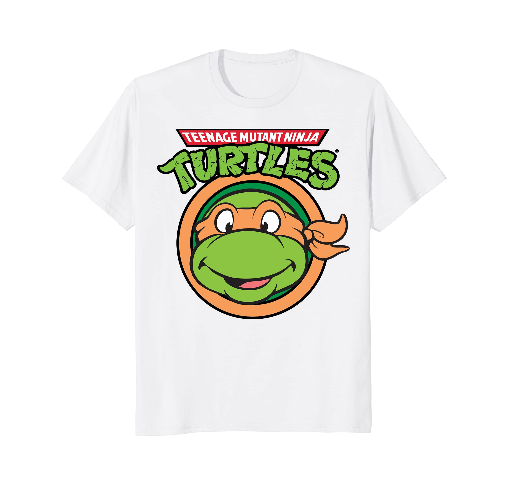 eac881aa663 Amazon.com  Teenage Mutant Ninja Turtles Smiling Michelangelo T-Shirt   Clothing