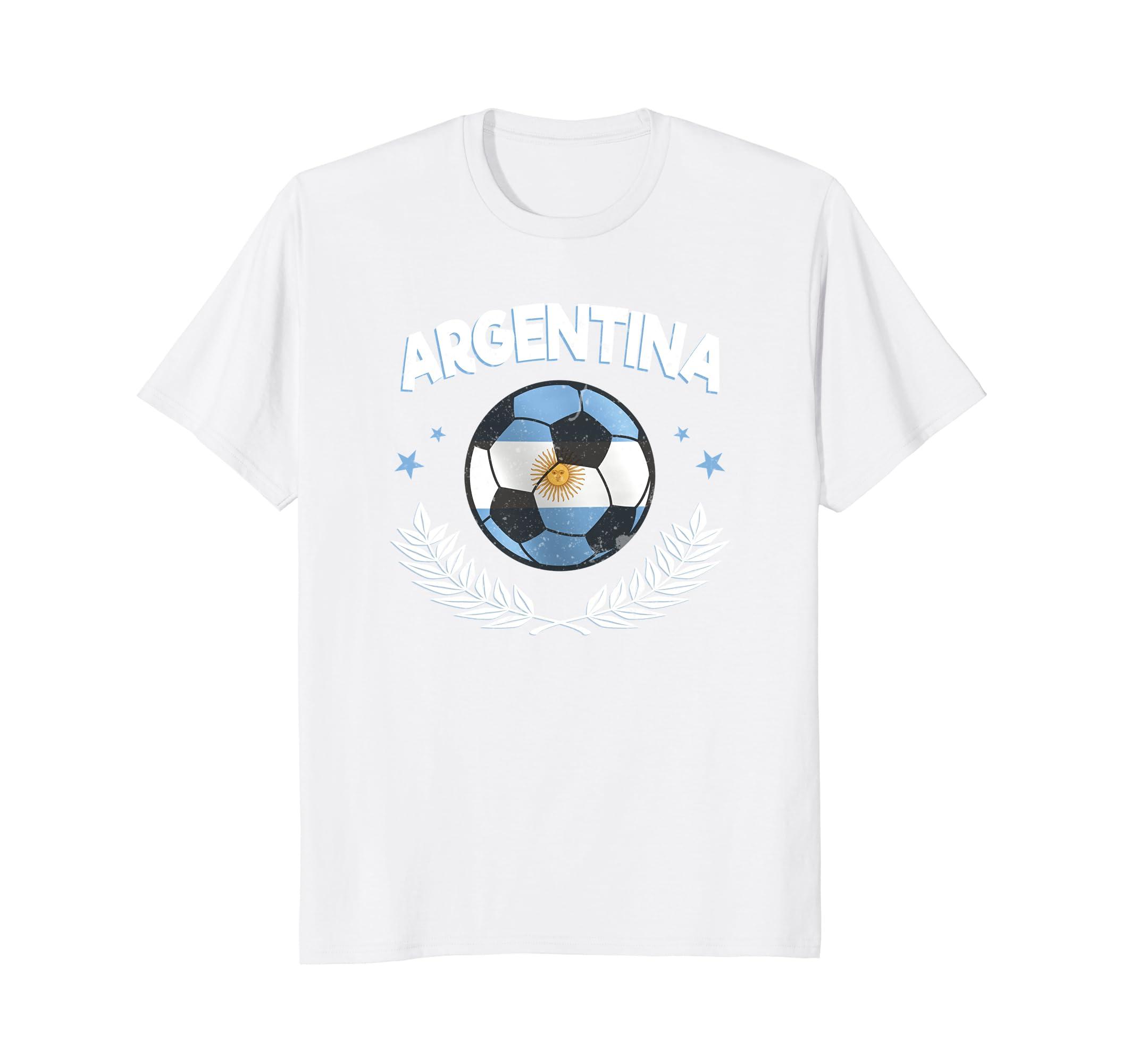 Amazon.com: Seleccion Argentina Mundial De Futbol Camisa Soccer Ball: Clothing