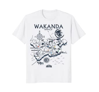 Image Unavailable. Image not available for. Color  Marvel Black Panther  Kingdom of Wakanda Map Graphic T-Shirt 574dcdcde