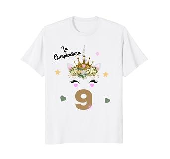 Amazon.com: Camisa de Cumpleanos Nueve Anos 9th Birthday 9 ...