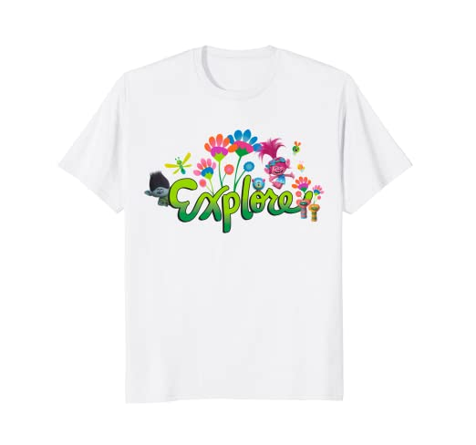 2b22f1c18ed Amazon.com  DreamWorks  Trolls Branch Explore T-Shirt  Clothing