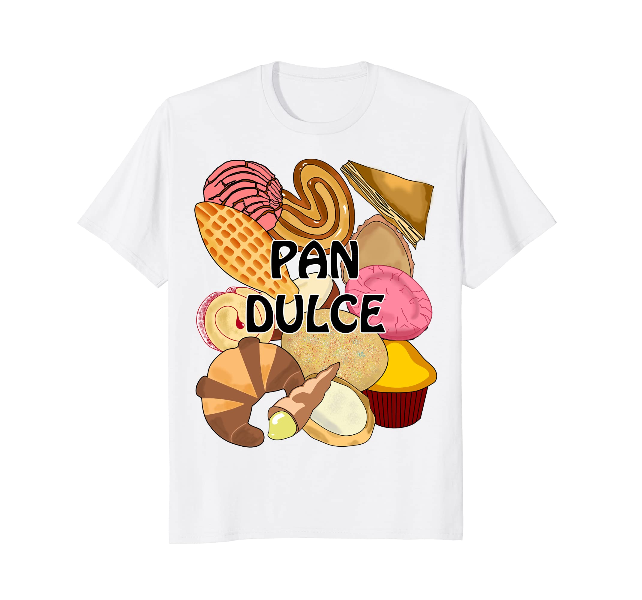 Amazon.com: Pan Dulce Conchas Mexican Sweet Bread Pastry Bakery T-Shirt: Clothing
