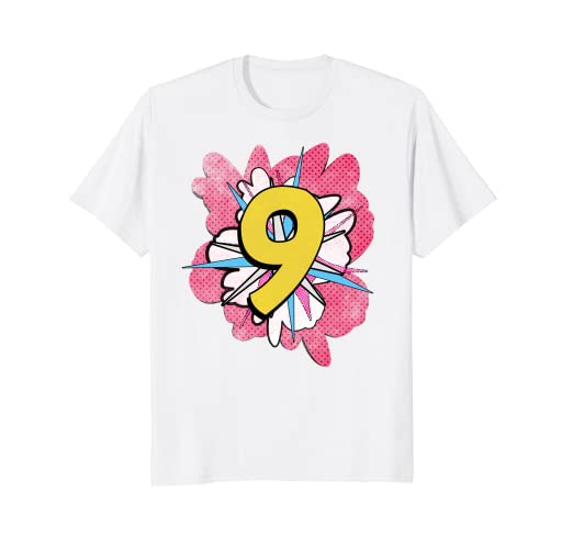 Amazon Girls Superhero 9th Birthday Shirt