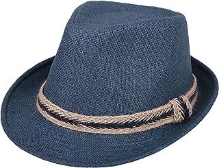 d0e7d75911718b Jasmine Men/Women's Classic Short Brim Miami Beach Panama Fedora Straw Hat