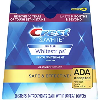 Crest 3D White Luxe Whitestrip Teeth Whitening Kit, Glamorous White, 14 Treatments( Each with 1 Upper/ 1 Lower), 28 Strips