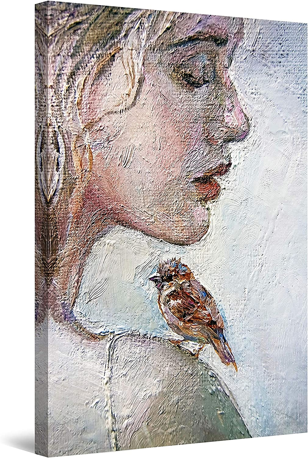 Startonight Canvas Wall Art Decor Miami Mall and Super sale period limited Abstract Bird Little Woman
