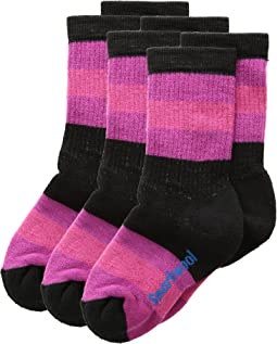 Striped Hike Medium Crew 3-Pack (Toddler/Little Kid/Big Kid)
