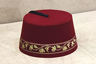 Velvet Felt Fez Hat Shriner Turkish Casablanca Moroccan Cap Costume Accessory