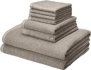 AmazonBasics Quick-Dry Bathroom Towels, 100% Cotton, 8-Piece Set, Platinum