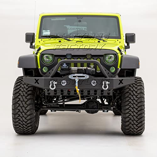 New Front Bumper Cover For Jeep Wrangler 2007-2017 CH1000900