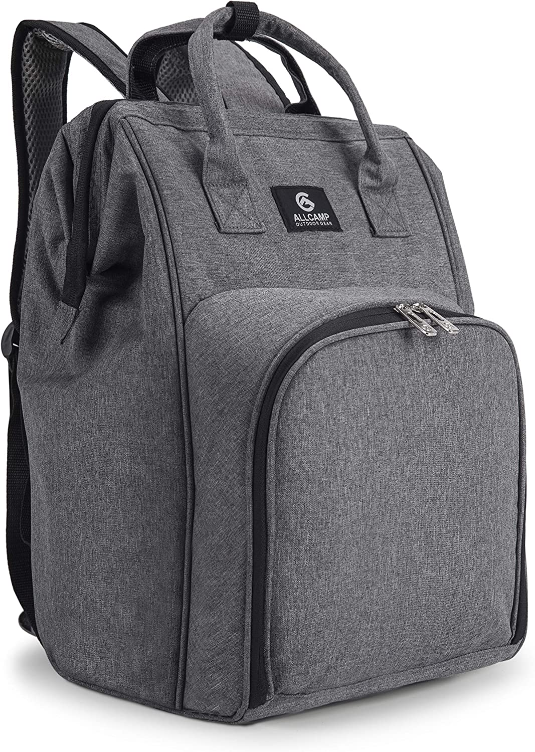 ALLCAMP Picnic Backpack for 2 Person with Fleece Blanket, Plates and Cutlery Set : Patio, Lawn & Garden