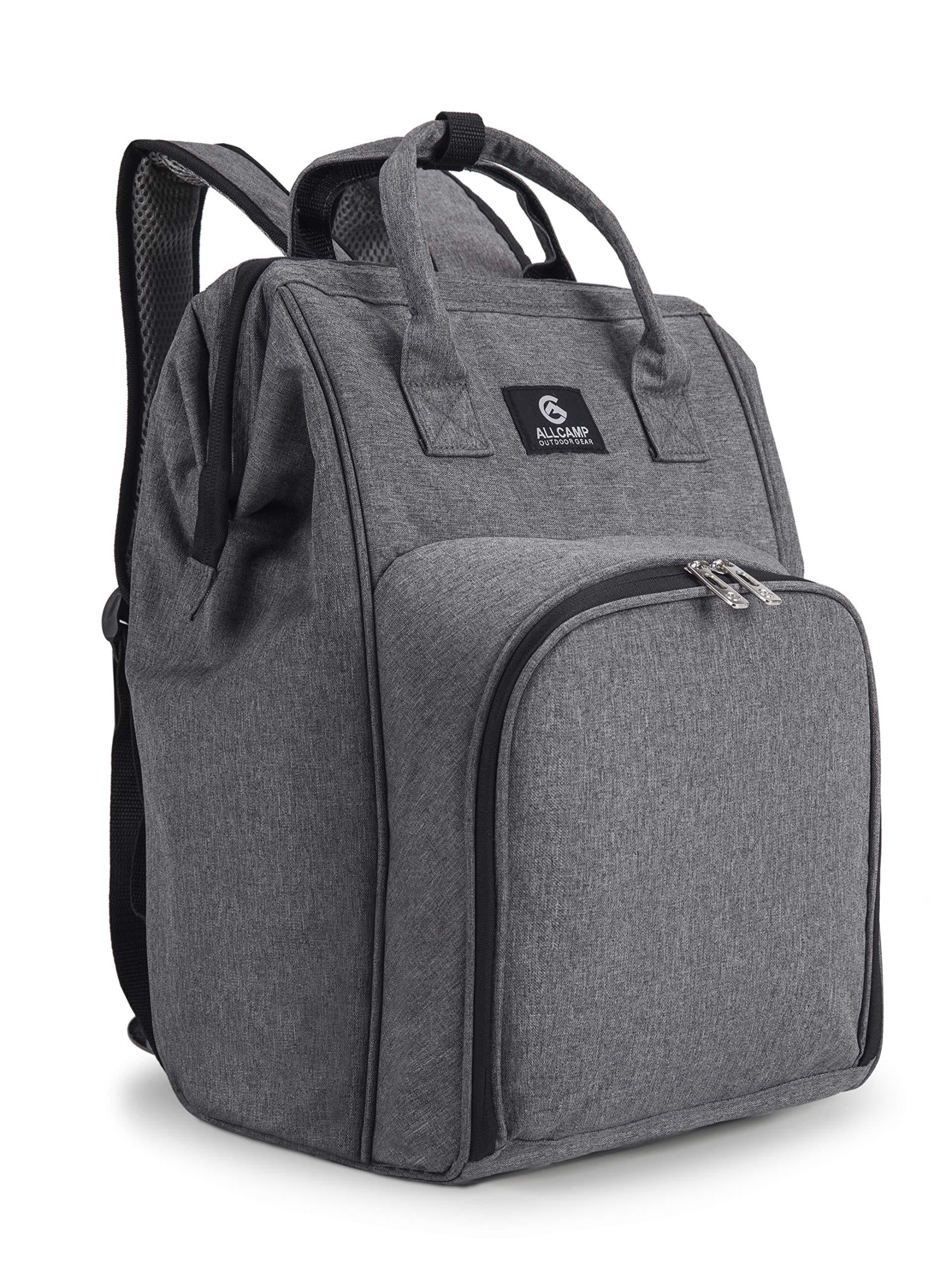 ALLCAMP Backpack Detachable Blanket Cutlery