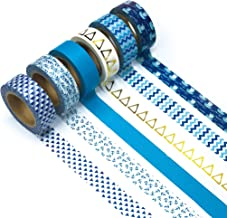Ultra Premium Washi Tape - Perfect Multi Purpose Colored Masking Tape For Walls, Arts and Crafts, DIY, Scrapbook (Float On)