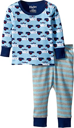 Hatley Kids Cop Cars Long Sleeve Mini Pajama Set (Infant)