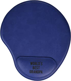 Pavilion - World's Best Grandpa Blue Cushioned Wrist Support Mouse Pad