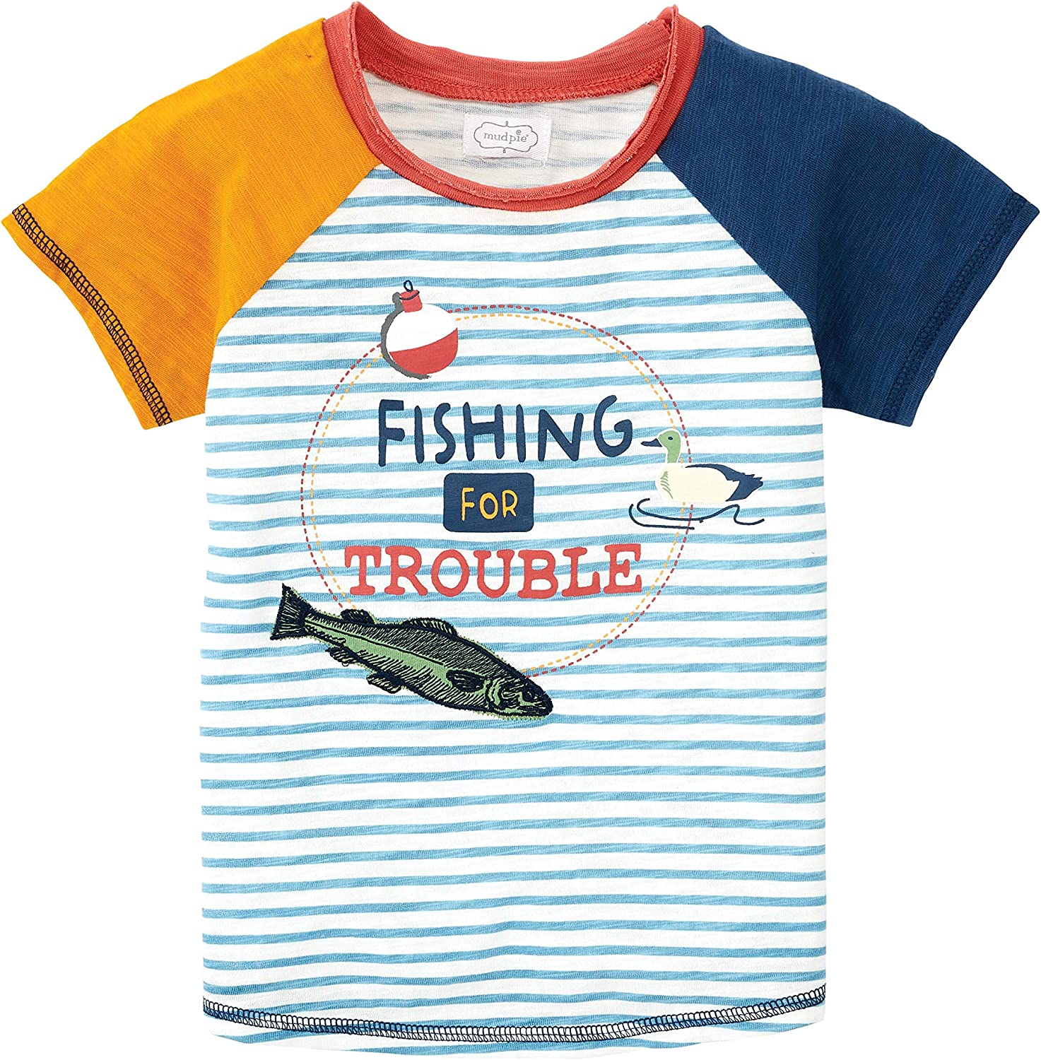 Mud Pie Baby Boys' Fishing for Trouble Tee