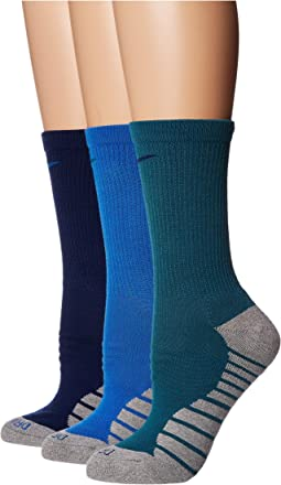 Dry Cushion Crew Training Socks 3-Pair Pack