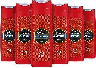 Old Spice Captain - Gel de ducha, pack de 6 x 400 ml, total de 2.4 L