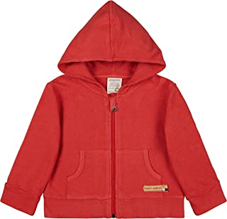 Loud + Proud Kapuzenjacke Strukturmuster, GOTS Zertifiziert Jacket, Chili, 98/104 Mixte bébé