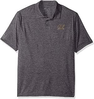Ouray Sportswear NCAA California Golden Bears Electrify 2.0 Polo Shirts, Graphite Heather, Small