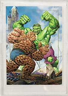 Marvel Masterpieces 1992 Thing vs. Hulk Spectra Card 1-D