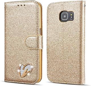 Glitter Flip Case for Samsung Galaxy A Series with Inlaid Loving Heart Samsung Galaxy A5 2017 Samsung Galaxy A5 2017