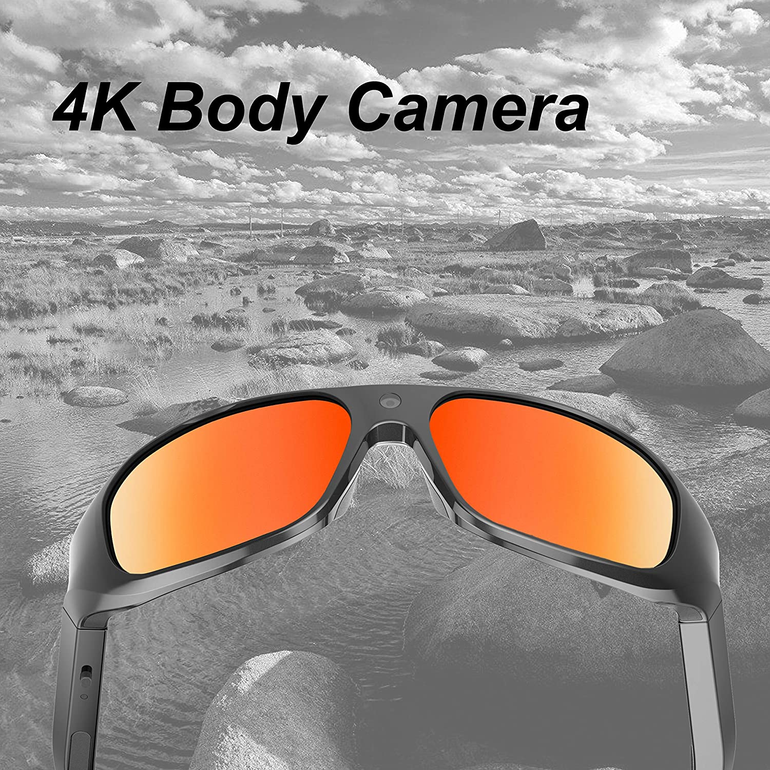 64GB OhO sunshine 4K Ultra HD Water Resistance Video Sunglasses, Sports Action Camera with Built-in 64GB Memory and Polarized UV400 Protection Safety Lenses,Unisex Sport Design.