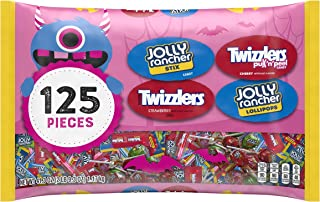 HERSHEY'S Halloween CandyVariety Mix, JOLLY RANCHERS and TWIZZLERS, 125 Pieces, 41.3 Oz