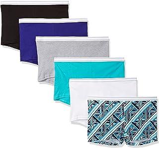 Hanes Women's 6 Pack Sporty Boyshort Panty, Colors May Vary