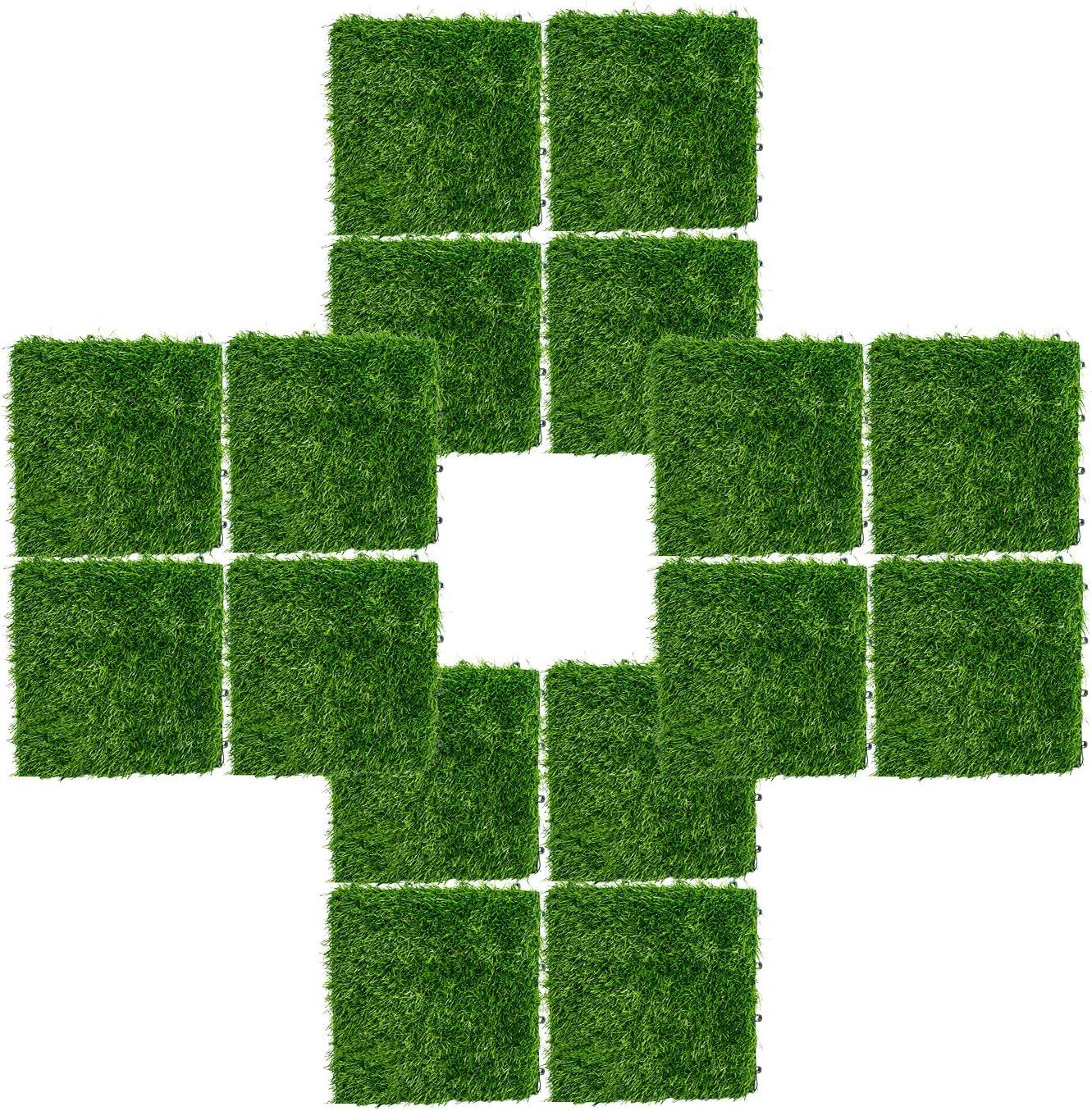 INNOVSIGN Artificial Grass Turf Interlocking 新色追加 Tile Self-draining セール特価品