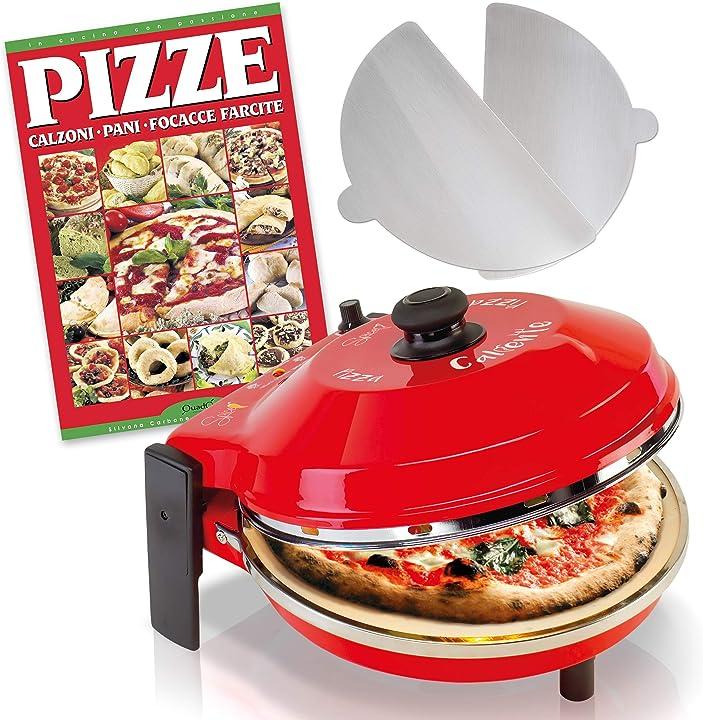 Forno pizza caliente con pietra refrattaria 400 gradi resistenza circolare- ricettario pizze SPP029-R