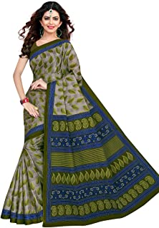Tamaira Fashion Women's Pure Cotton Saree Without Blouse Piece (1354_Grey)