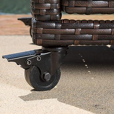 Christopher Knight Home Corona Outdoor Wicker Bar Cart, Multibrown