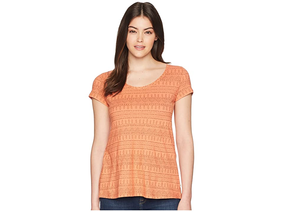 Toad&Co Tissue Crossback Short Sleeve Tee (Papaya Geo Seed Print) Women