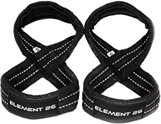 Element 26 Padded Figure 8 Lifting Straps - Weightlifting Straps - Figure 8 Straps - Wrist Straps for Men, Women, Crossfit, Weight Lifting, Deadlifts - Deadlifting Straps