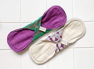 南インド「Eco Femme」布ナプキン (防水あり)多い日 色違い2枚セット
