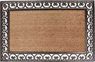 A1HC FIRST IMPRESSION Large Doormat | Rubber and Coir Doormat With Large Wipe Area| 30 x 48 Inch | Standard Double Doormat |Natural Fade | Large Size Doormat |Rubber Backed | Bootscrapper