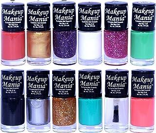 Makeup Mania Nail Polish Set of 12 Pcs, Nail Paint of 6ml each x 12 Pcs, MultiColor Combo Set No.136