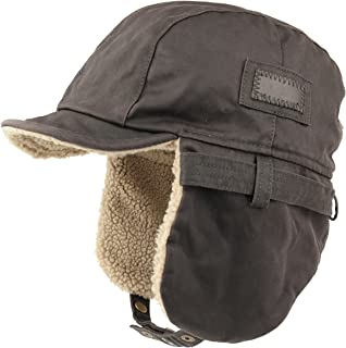 Armycrew Rugged Distressed Sherpa Lined Aviator Pilot Cap