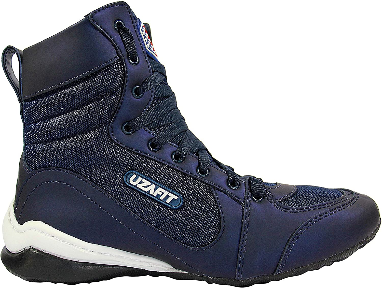 UZAFIT Logan Bodybuilding Weightlifting Crossfit Boxing shoes Unisex Sneaker Deep bluee