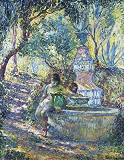 Henri Lebasque Two Girls at a Fountain in Saint Tropez 1906 Painting Oil on Canvas 30