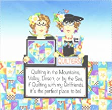 Jody Houghton Designs JHD7-1 Traveling Quilters Pre-Printed Fabric Art Panel, Varies