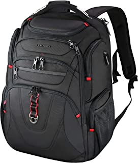 KROSER Travel Laptop Backpack 17.3 Inch XL Heavy Duty Computer Backpack Water-Repellent College Daypack Check Point Friend...
