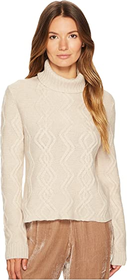 Tess Cropped Cable Knit Pullover