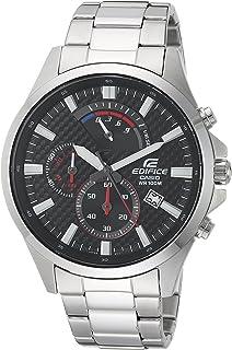 Men's Edifice Quartz Watch with Stainless-Steel Strap, Silver, 10 (Model: EFV-530D-1AVCF)