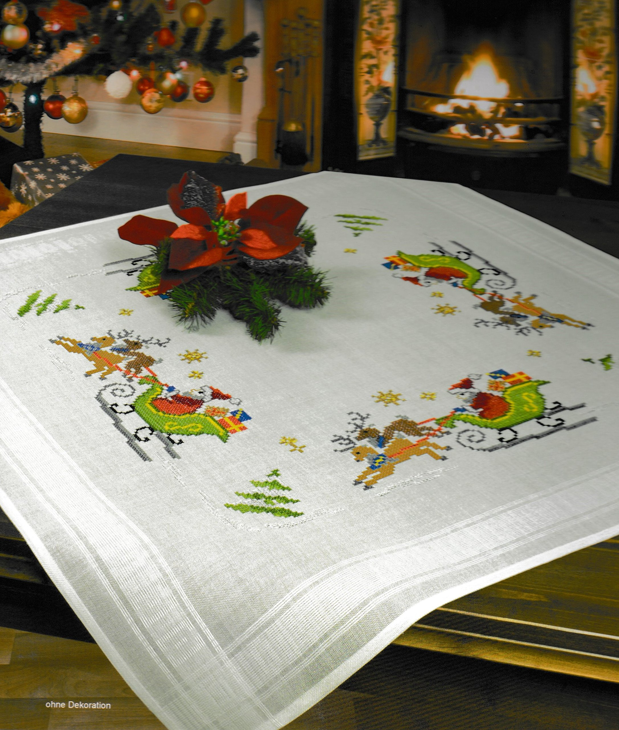 European Embroidery Sewing Kit Table Top Embroidery Kit Nob Hill Linens Sewing Kit Vintage Embroidery Kit Table Linen