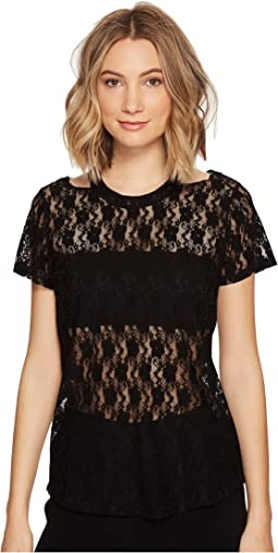 Nicole Miller - Riley Stretch Lace Cut Out Top