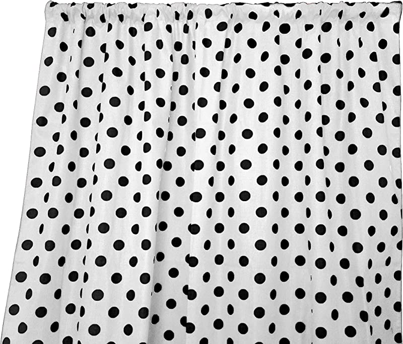 Zen Creative Designs Polka Dots On White Cotton Curtain Panel Perfect For Bed Room Window Children S Room Window Living Room Window Decor Black Dots 84 Tall X 58 Wide